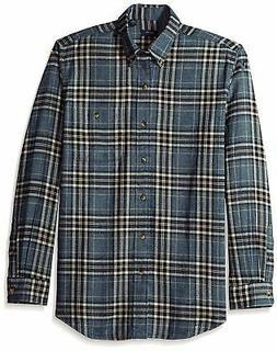 Arrow Men's Saranac Flannel Long Sleeve Button Down Shirt, B