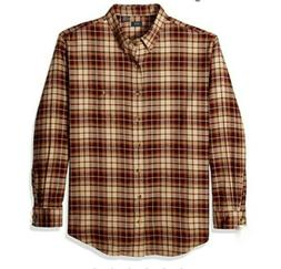 Arrow Men's Saranac Flannels Long Sleeve OYSTER GRAY HTR 100