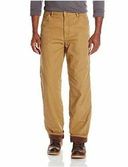 Wrangler Men's Authentics Fleece Lined Carpenter Pant, Autum