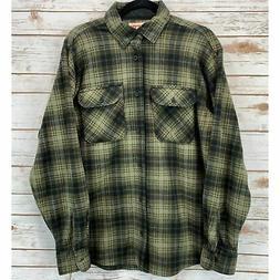 Wrangler Authentics Green Flannel, M