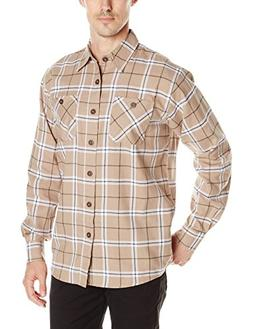 Wrangler Authentics Men's Long Sleeve Flannel Shirt, Dune, 2