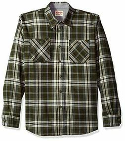 Wrangler Authentics Men's Long Sleeve Flannel Shirt, rosin,