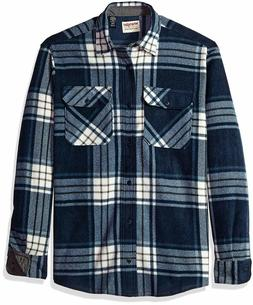 Wrangler Authentics Men's Long Sleeve Plaid Fleece Shirt, To