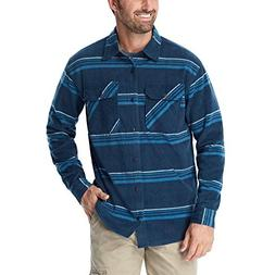 authentics men s long sleeve plaid fleece