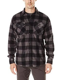 Wrangler Authentics Men's Long Sleeve Plaid Fleece Shirt, Gr