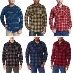 Wrangler Authentics Men's Long Sleeve Plaid Fleece Shirt Jac