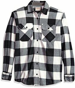 Wrangler Authentics Men's Long Sleeve Plaid Fleece Shirt, Bi