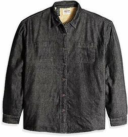Wrangler Authentics Men's Long Sleeve Sherpa Lined Denim Shi