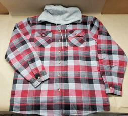 authentics mens long sleeve quilted lined flannel