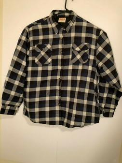Wrangler Authentics Mens Long Sleeve Quilted Lined Flannel S