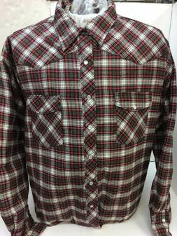 Wrangler Authentics Mens Long Sleeve Quilted Lining Flannel
