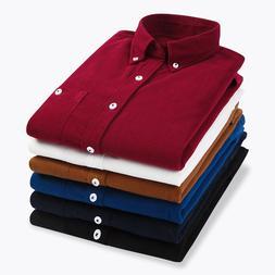 Autumn <font><b>Shirts</b></font> Men Corduroy Warm Male <fo