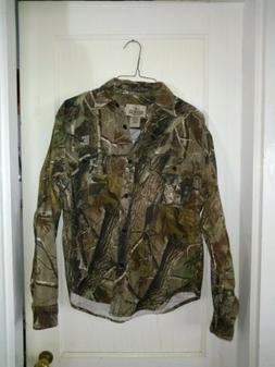 Bass Pro Shop Flannel camo Button Long Sleeve Shirt outdoor