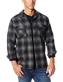 Pendleton Men's Big-Tall Board Shirt, Charcoal/Black Ombre,