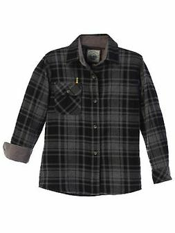 Gioberti Big Boys Charcoal Black Corduroy Contrast Flannel S