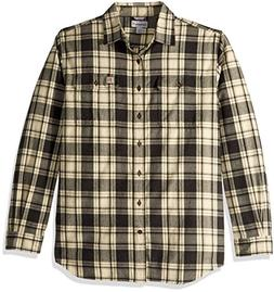 Carhartt Men's Big Hubbard Plaid Flannel Shirt, Black Heathe