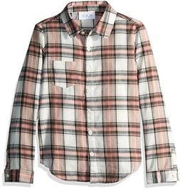 The Children's Place Big Girls' Long Sleeve Button-up Shirt,