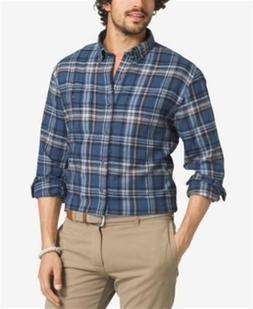 GH Bass Company Big Tall Plaid Flannel Long Sleeve Shirt Men
