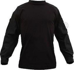Black Solid Tactical Heat Resistant Long Sleeve Lightweight