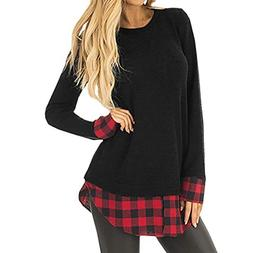 Forthery Women Blouse ♥ Women's Casual Long Sleeve Round N
