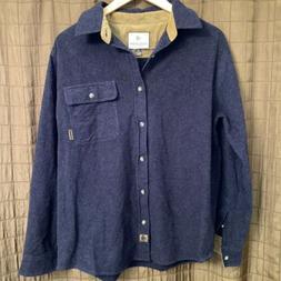 Legendary Whitetails Blue Button Down Cotton Flannel Shirt M