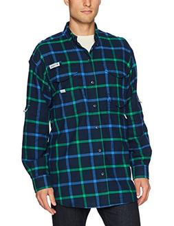 Columbia Men's Bonehead Flannel Long Sleeve Shirt, Collegiat