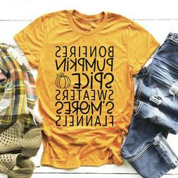 Bonfires Pumpkin Spice Sweaters S'Mores Flannels T-Shirt Fas