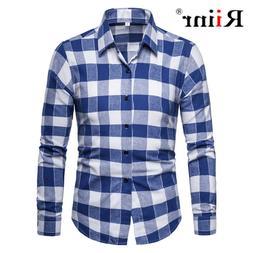 Riinr Brand Men Plaid <font><b>Shirts</b></font> 2019 New Hi