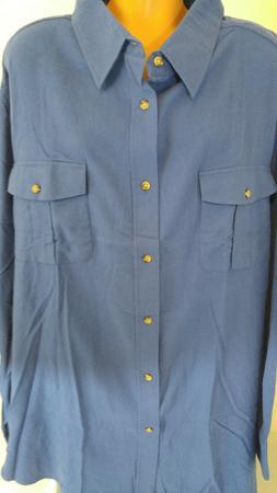 King Size Brand Men's Big 5XL Light Blue Flannel Shirt