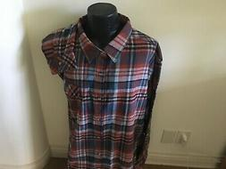 BRAND NEW LEGENDARY WHITETAILS BURG/BLUE PLAID COTT FLANNEL