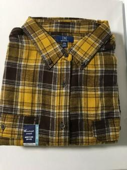 Brand New George Longsleeve Flannel Shirt 3XLT Yellow Plaid