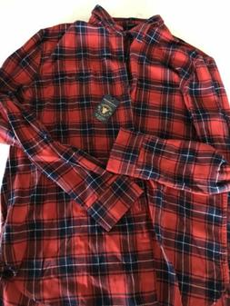 Brand New - Lucky Brand Stretch Red Flannel Shirt xl