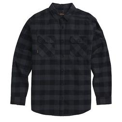 Burton Brighton Flannel Mens Shirt Long Sleeve - True Black