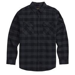 Burton Brighton Flannel Shirt Small True Black Hetaher Buffa