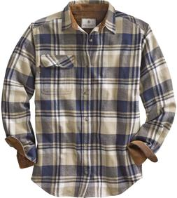 Legendary Whitetails Buck Camp Flannels Shale Plaid Large