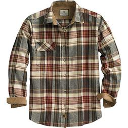 Legendary Whitetails Buck Camp Flannels Cedarwood Plaid Larg