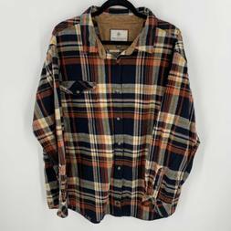 Legendary Whitetails Buck Camp Plaid Flannel Shirt Men's S
