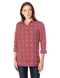Woolrich Women's Buffalo Check Boyfriend Shirt, Red Rock Che