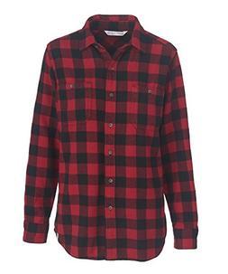 Woolrich Women's Buffalo Check Flannel Shirt, RED/BLK PLAID