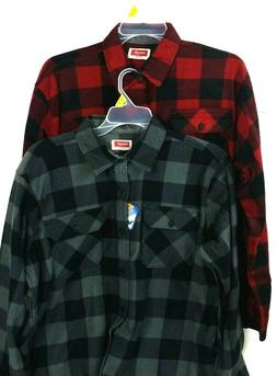 WRANGLER BUFFALO Plaid FLEECE flannel SHIRT Men's S, M, L NE