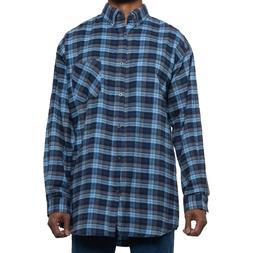 Key Button Up Men's Shirt Long Sleeve Size 4XL Tall Flannel