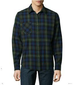 Button Up Shirt Plaid Flannel Arizona Long Sleeve Blue/Green