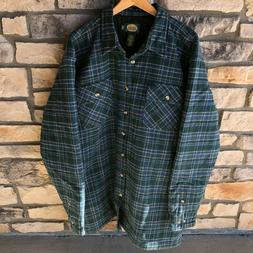 Cabela's Heavy Quilted Lined Flannel Shirt Heavyweight Outdo