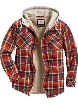 camp night hooded flannel cardinal red plaid