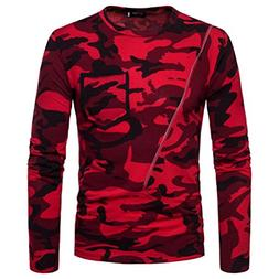 YOcheerful Men's Casual Long Sleeve T-Shirt Pullover Tops Bl