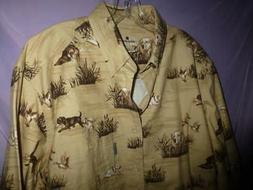 Woolrich Chamois Flannel Shirt Barley Dogs Hunting retriever