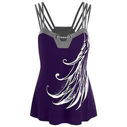 WEUIE Clearance Sale Women Plus Size Strappy Tank Tops Chain