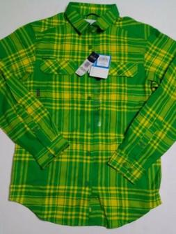 columbia mens flannel ls shirt size s