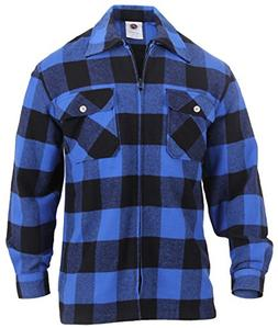 Rothco Concealed Carry Flannel Shirt, Blue, XL