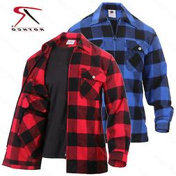 Rothco Concealed Carry Flannel Shirt - Red Black Or Black Bl